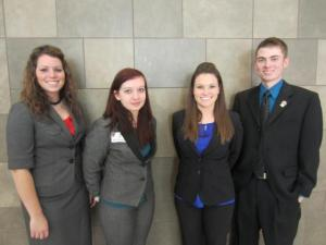 (Pictured left to right is Ashlee Dietz, Robin Alden, Jacqueline Sherry, and Jared Smith)