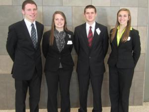 (Pictured left to right is Tanner Topp, Tessa Topp, Colton Harstine, and Macy Conrad)