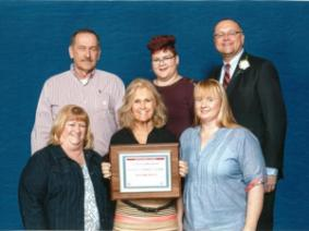 Pictured: (left to right in back) Richard Owens, Eileen Gress, and Dr. Roger Rennekamp; (left to right in front) Deb Owens, Bonnie Ayars, and Julie Martig